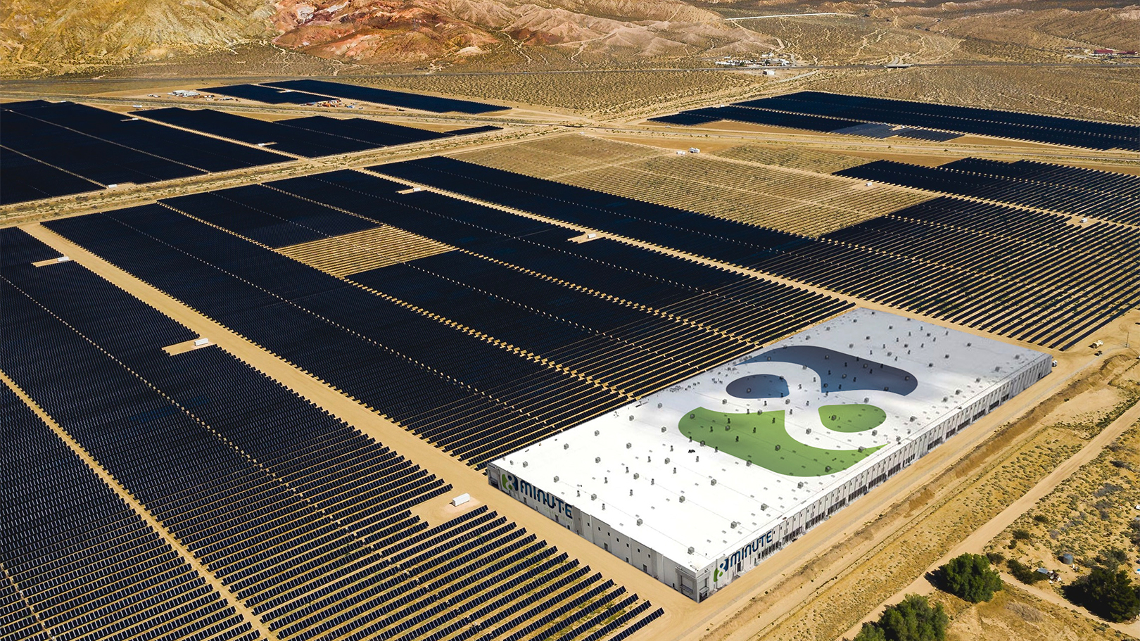 Artist's rendering of the new Eland Solar site, Copyright 2019 8 Minute Solar Energy